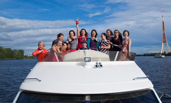 Hen party on a yacht