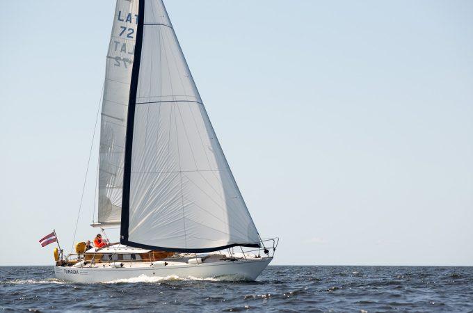 Яхта Турайда в Рижском заливе